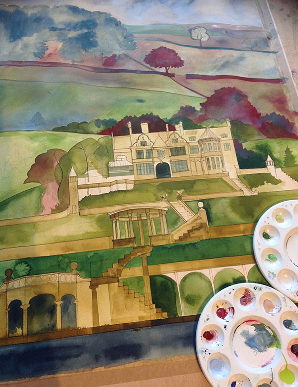 cragg hall painting 1 first stage